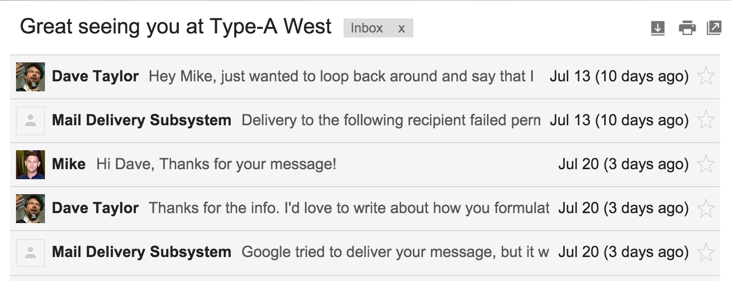 gmail email message thread