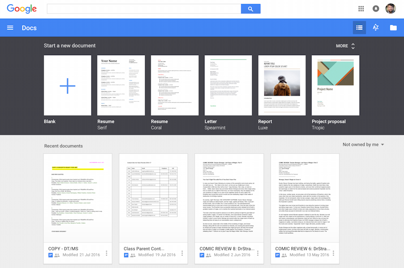 google docs remove old shared files