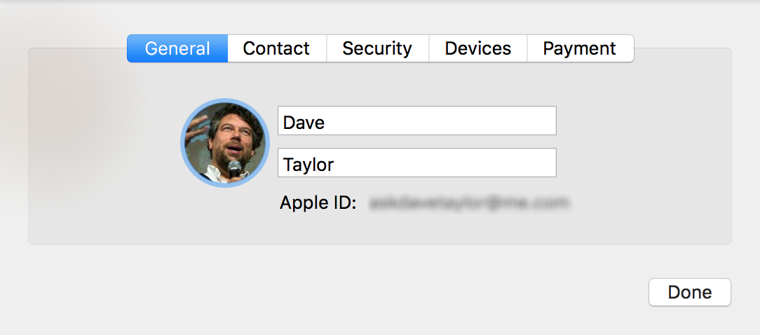 icloud account details