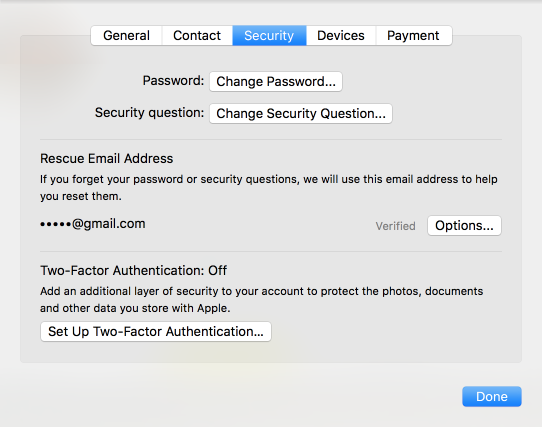 icloud two-factor authentication security settings