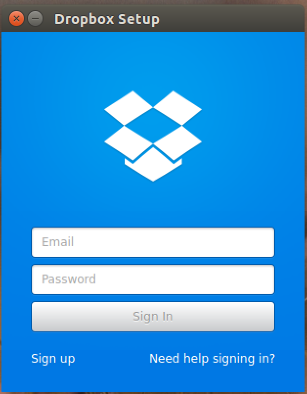 log in to your dropbox account
