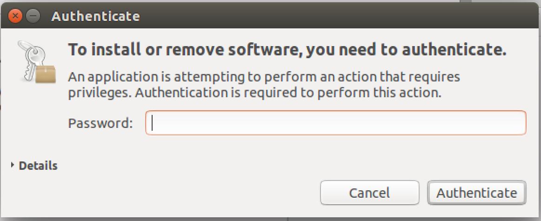 ubuntu linux admin password required