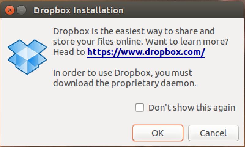 install dropbox, part 2