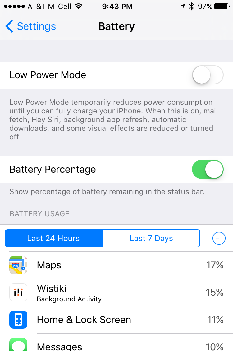 ios 9 iphone battery settings low power mode usage