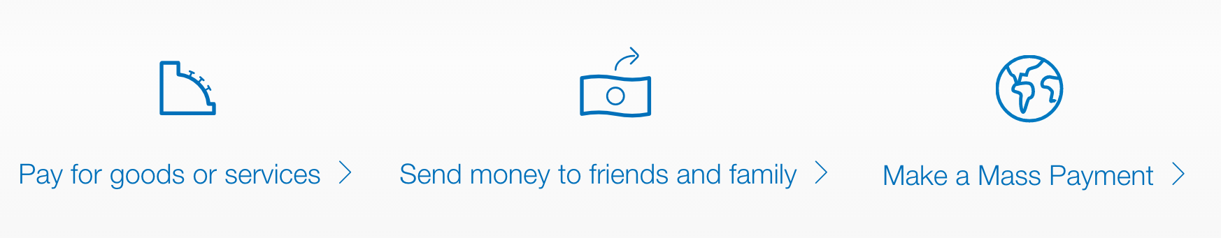send money from paypal / pay for something / service