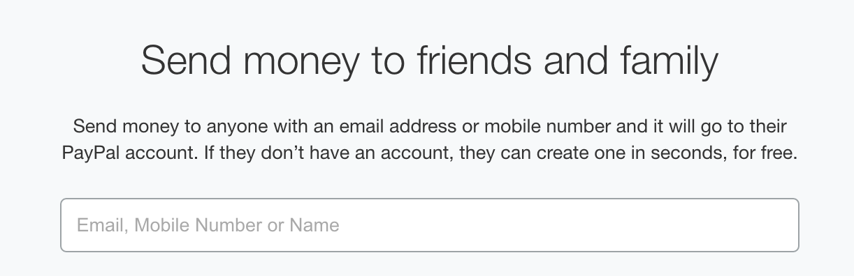send money to who?