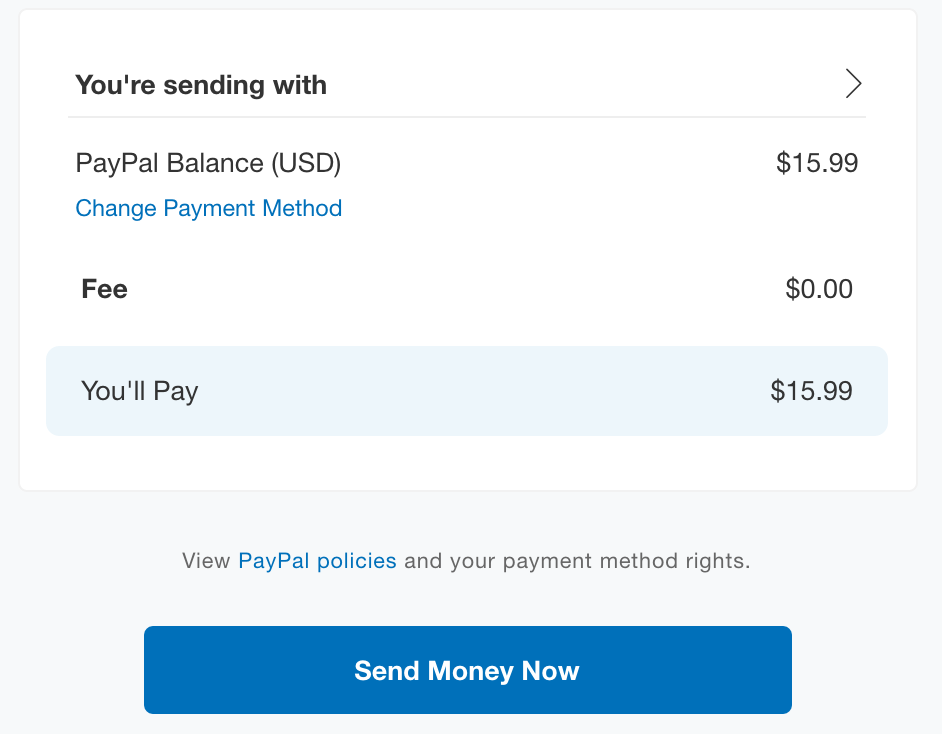 Paypal Fee For Sending Money