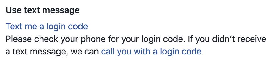 text a login code facebook