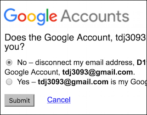 disconnect google mail gmail account password recovery