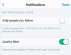 clean up twitter quality filter newsfeed tweets