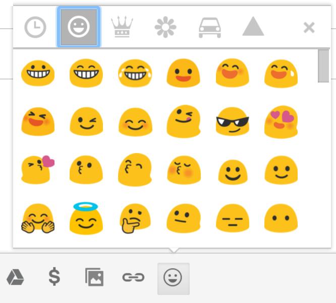 gmail google mail emoticons emoji