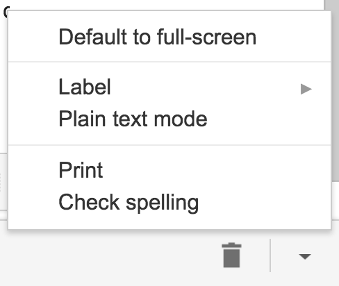 gmail extra formatting features tools menu