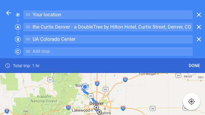 how to change route on google maps iphone app