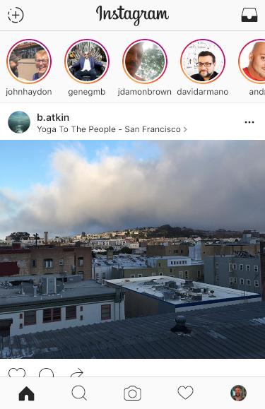 instagram main view, iphone ios 9
