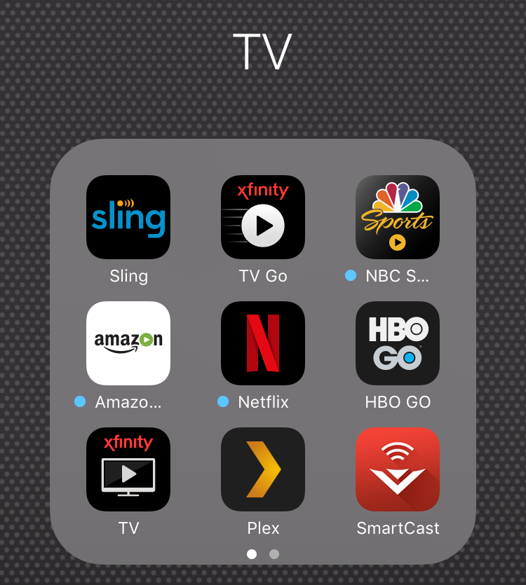 ios 9 tv apps folder, neat and organized