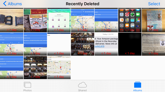 recently deleted photos and videos, ios9
