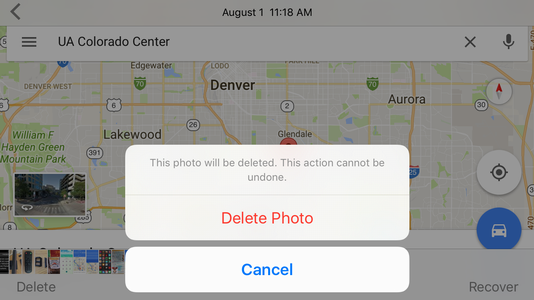 sure you want to permanently delete this photo? iPhone iPad ios