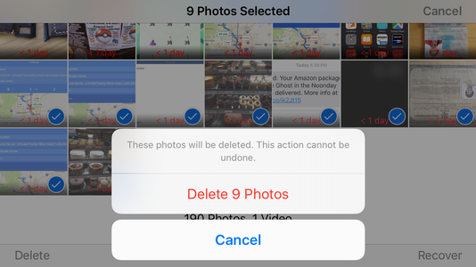 really delete permanently multiple photos videos images ipad iphone