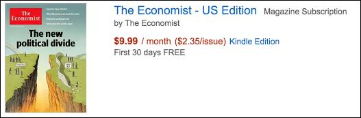 the economist kindle edition