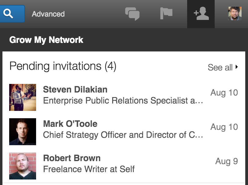 linkedin connection pending invitations requests