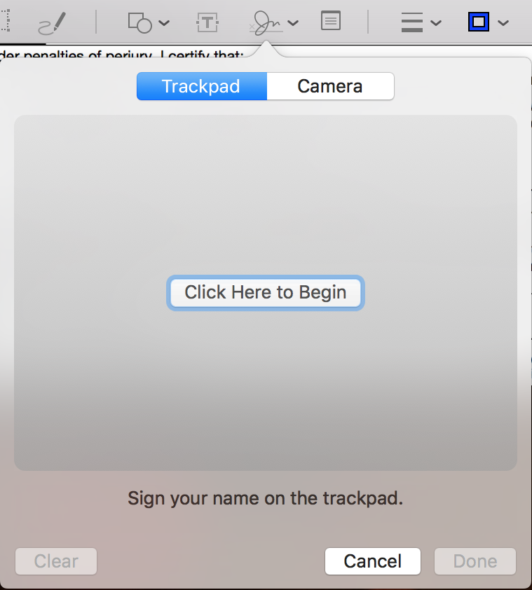 sign signature trackpad mac preview