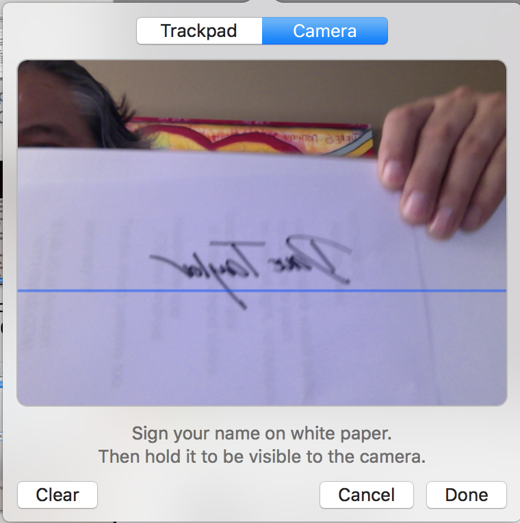 scan your signature with the webcam
