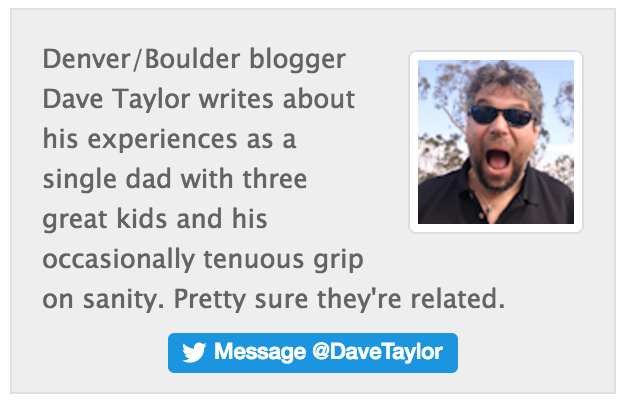 twitter 'message @davetaylor' button embed tutorial