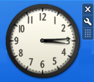 settings for clock gadget, microsoft windows win10
