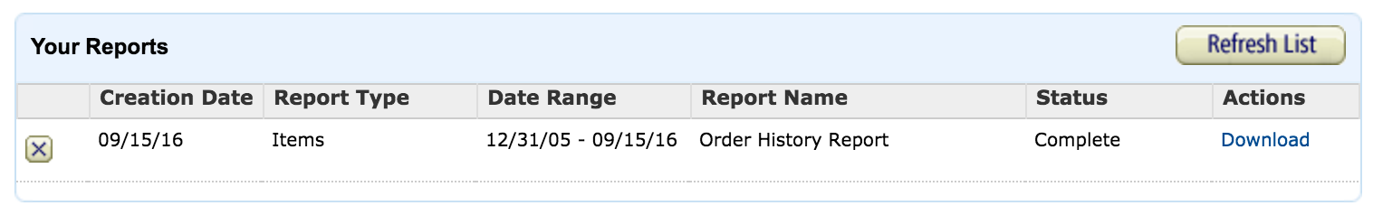 amazon transaction report ready to download