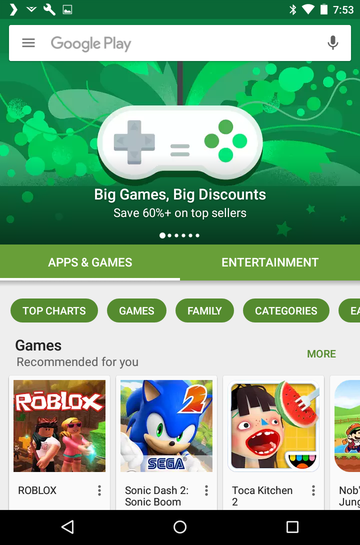 Google Play Store, Android