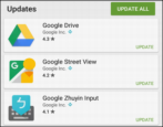 how to update android apps programs google play app store