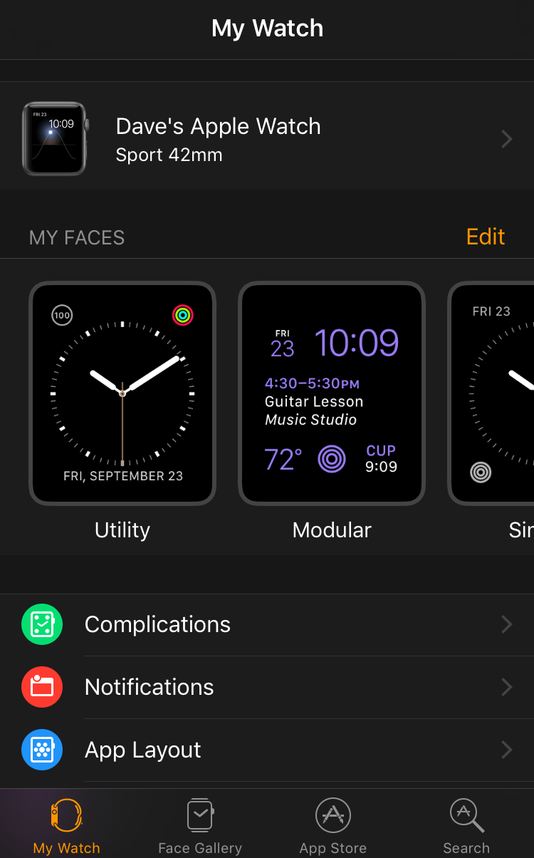 Add photos to apple watch face