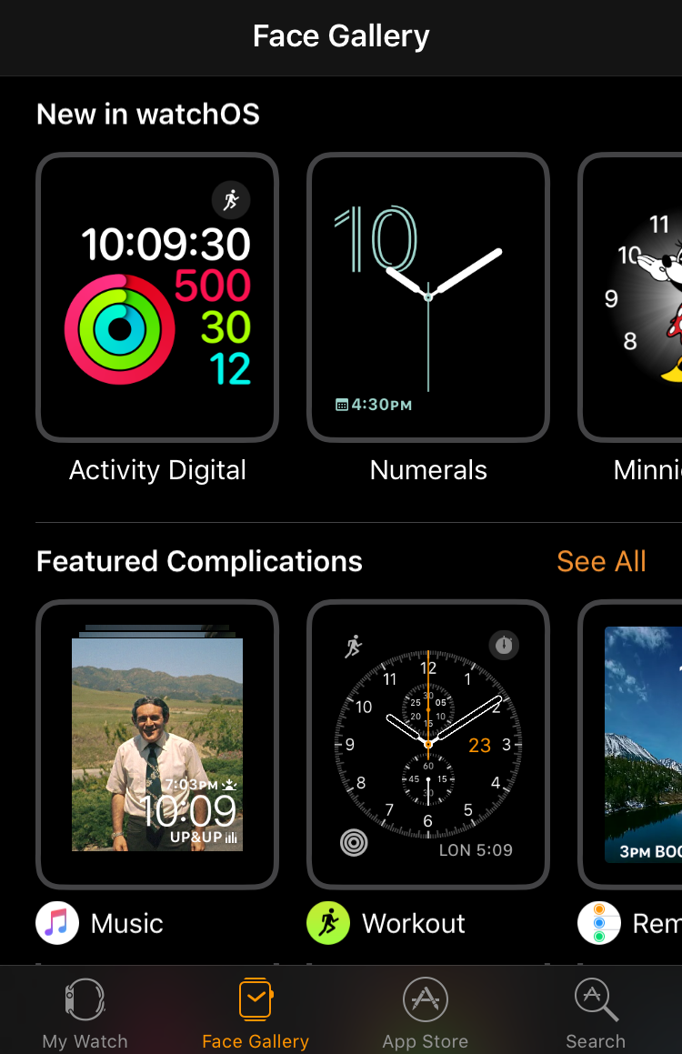 add watch face apple watch iphone app