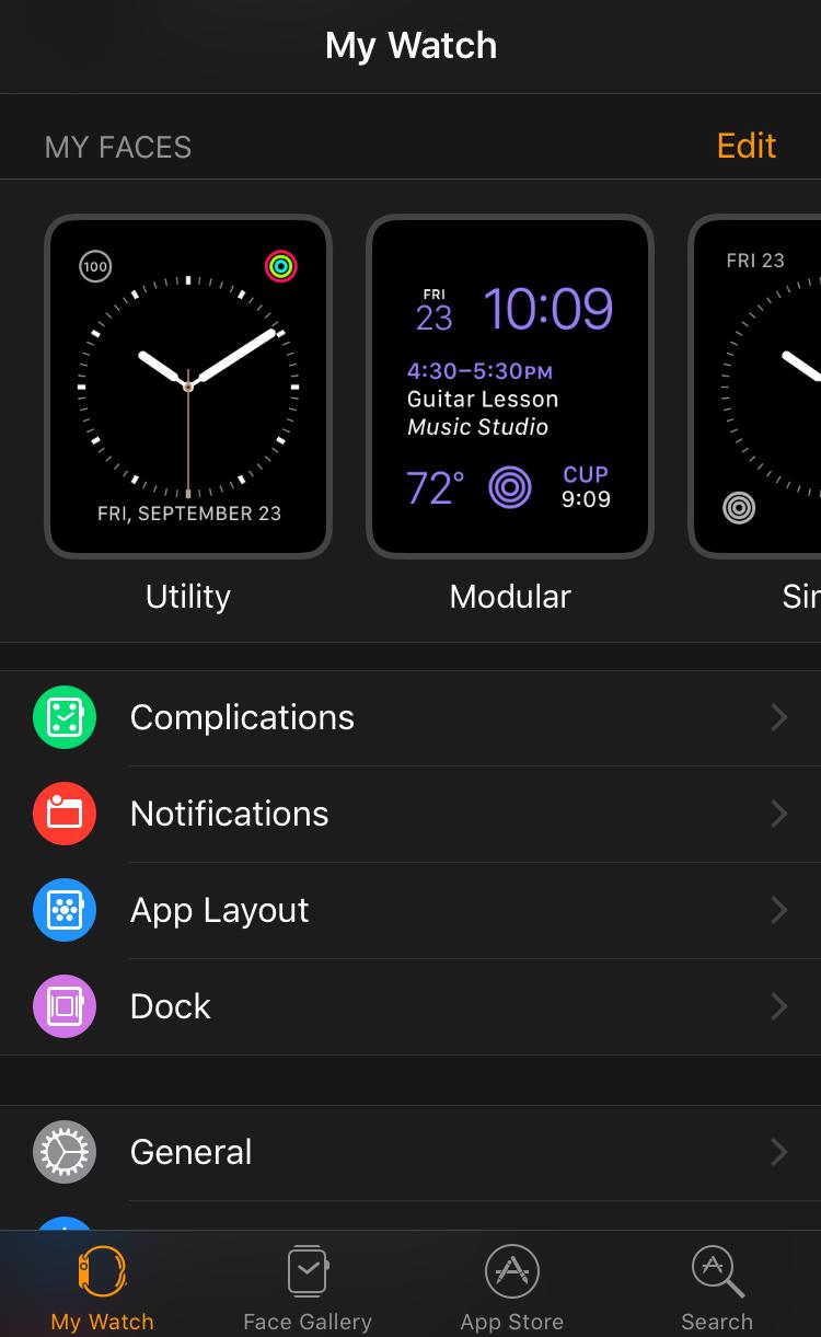 apple watch watchos 3 iphone app