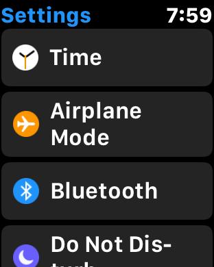 apple watch watchos 3.0 settings