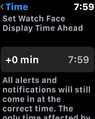 set apple watch watchos 3 time ahead