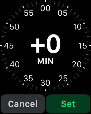 adjust apple watch time forward reminder memory