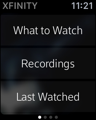 xfinity tv remote app on apple watch