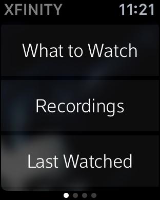 xfinity tv remote app on apple watch