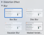 how to apply blur mask obscure filter graphic photo picture mac