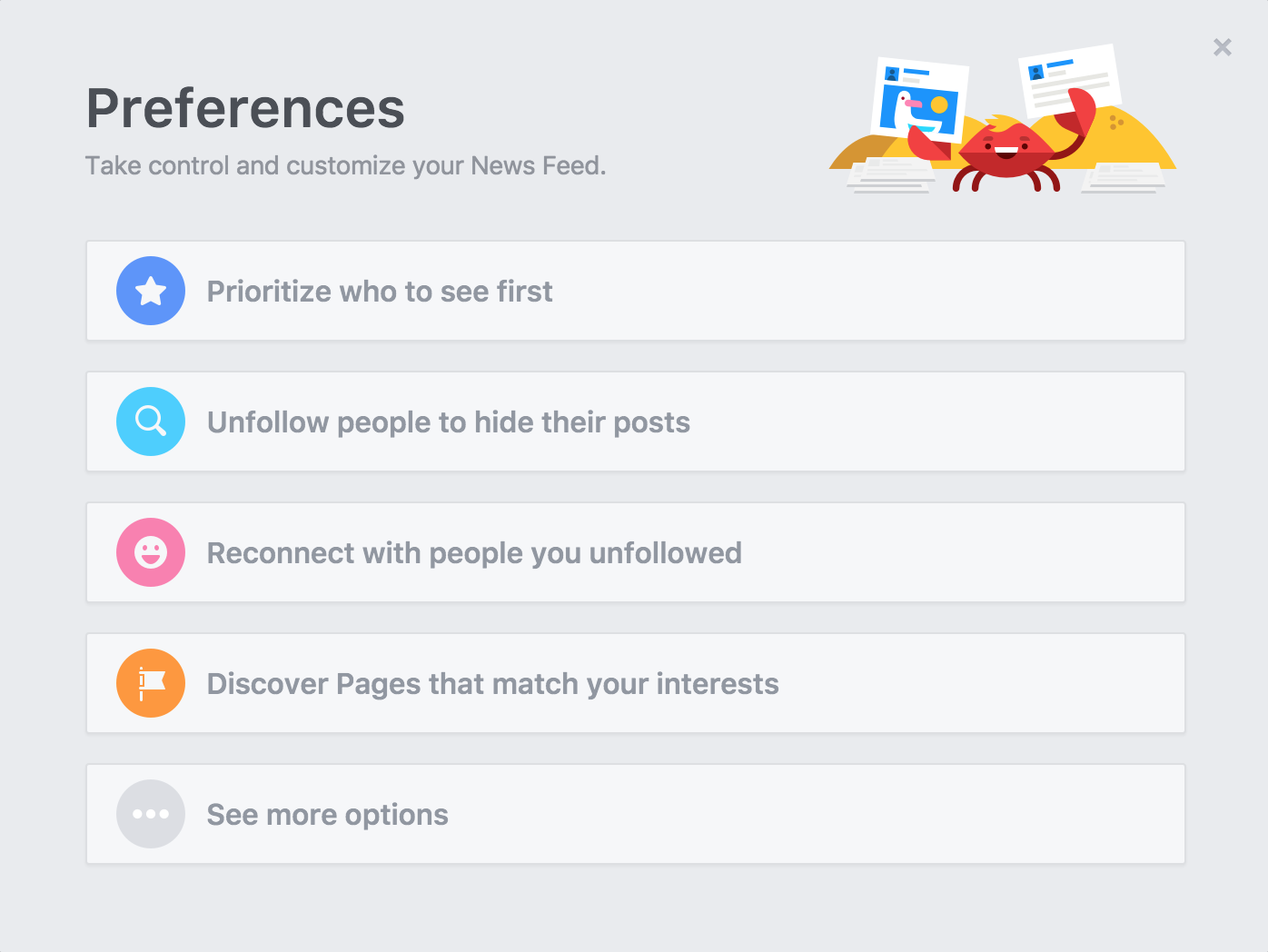 facebook fb news feed newsfeed preferences