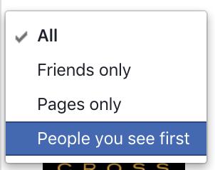 choose people you see first menu