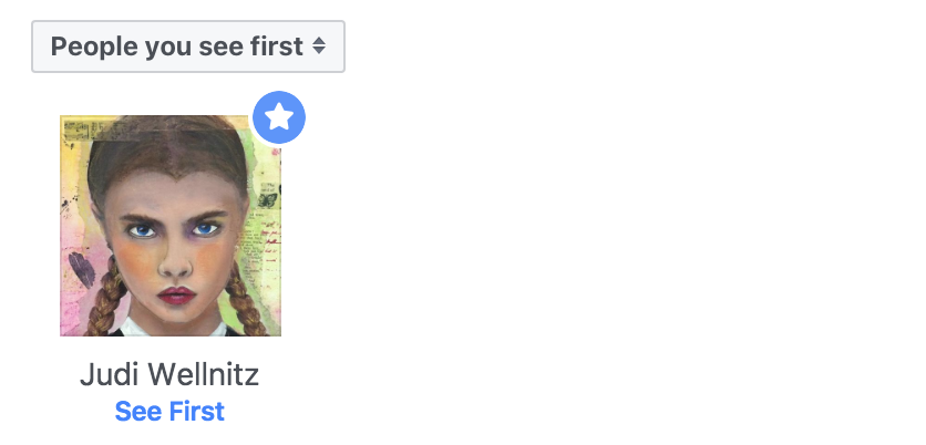 people you see first in your facebook fb newsfeed