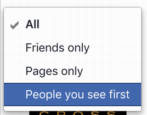 how to change facebook newsfeed make friends family show first