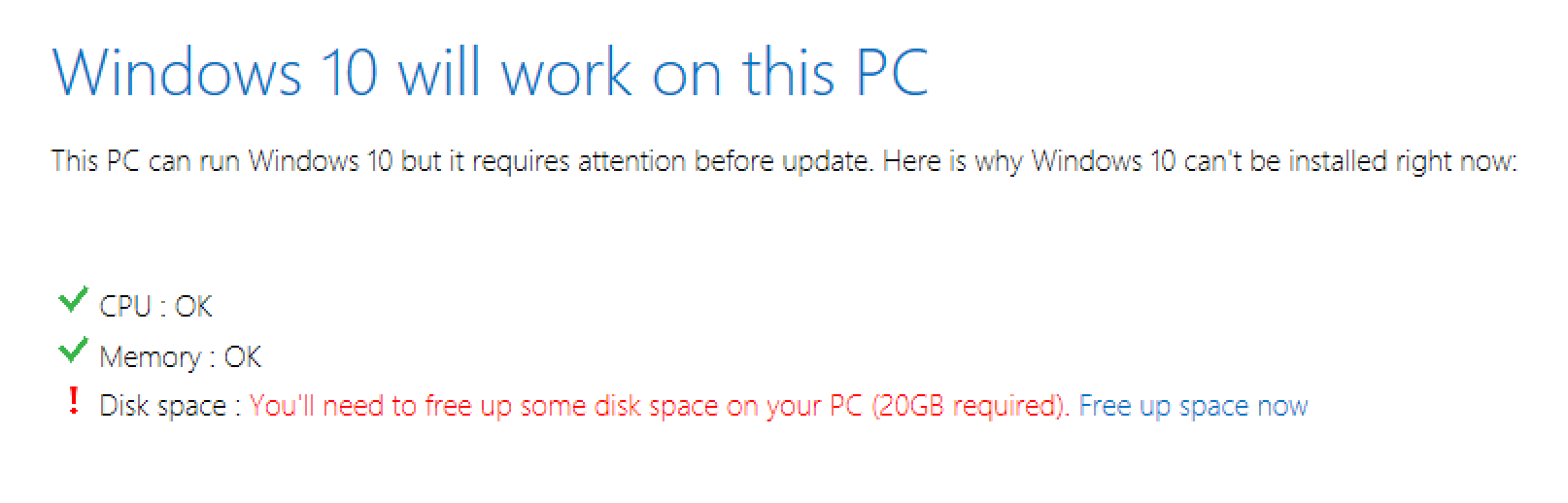 vmware fusion windows 10 out of disk space