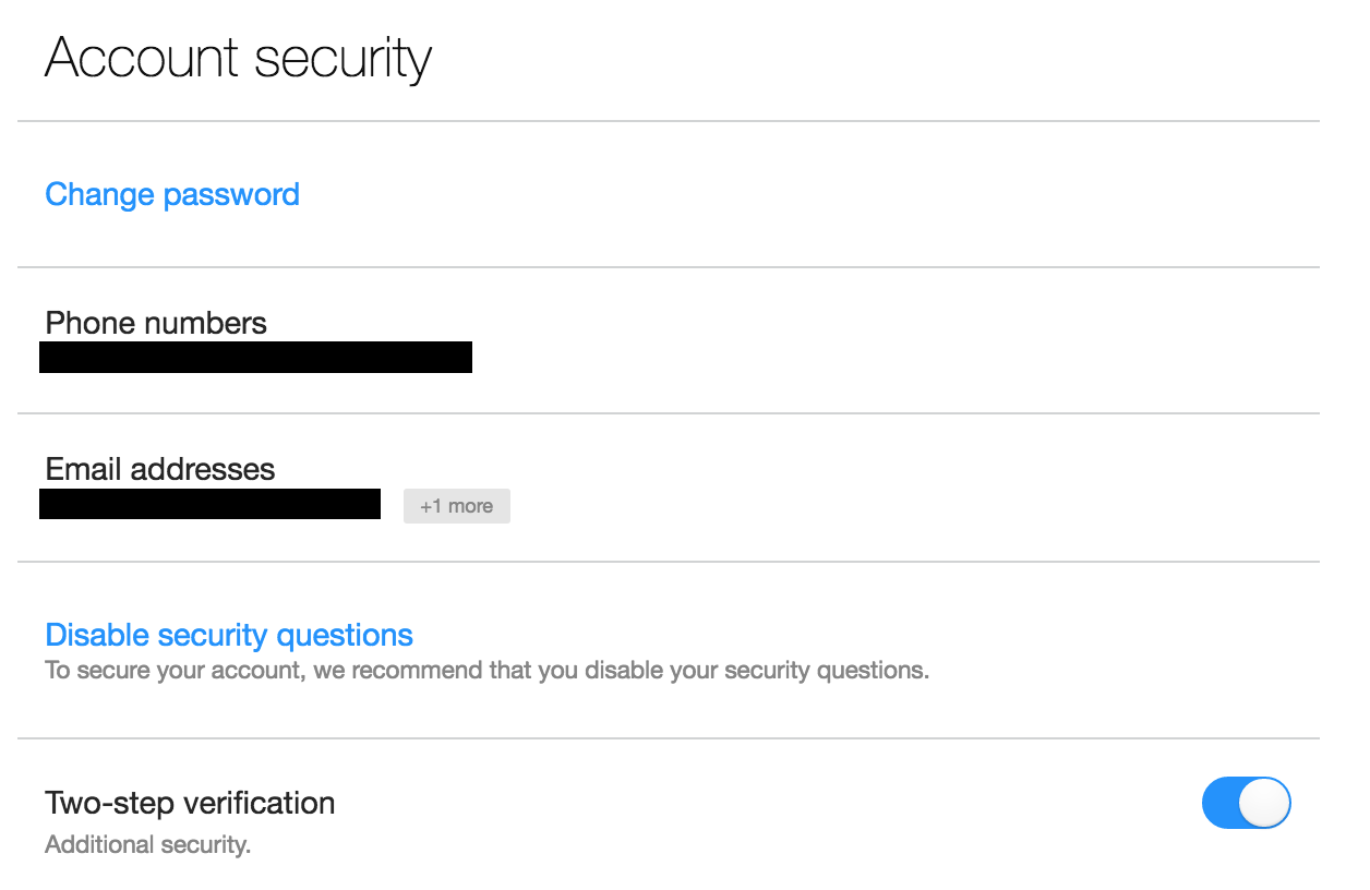yahoo account security, basic settings