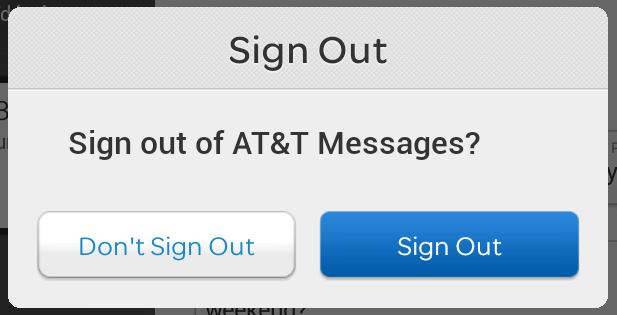 sign out of at&t messages service, android samsung tablet