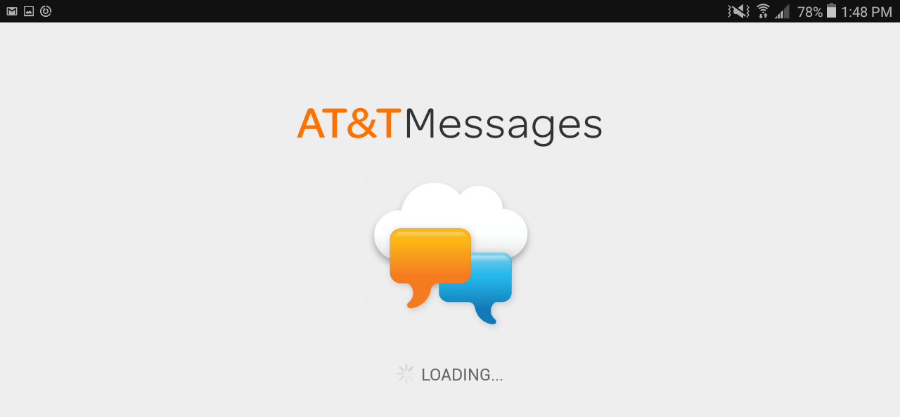 loading a&t messages service