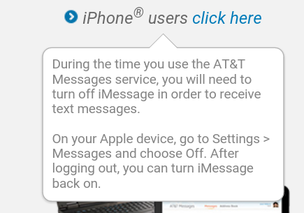 at&t messages vs imessage