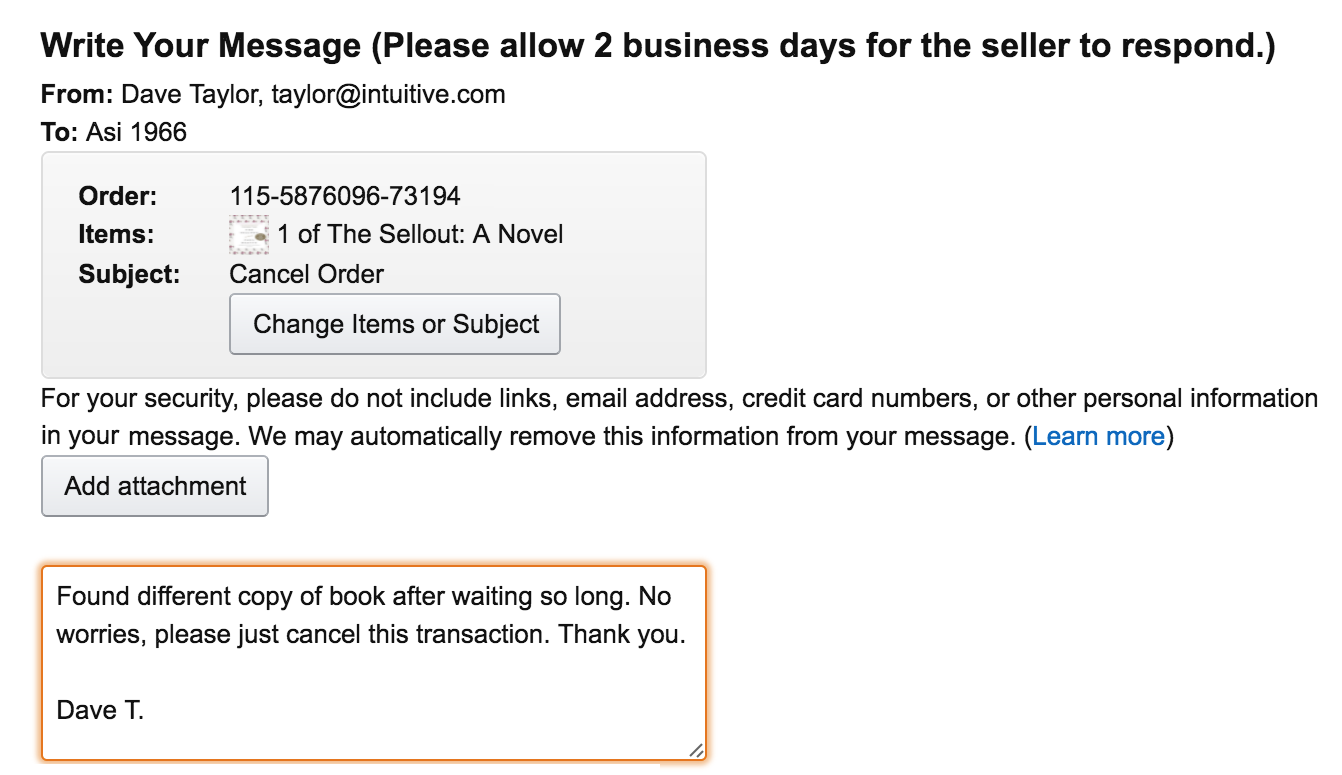 request to cancel transaction on amazon.com